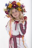 Beautiful girl in Ukrainian ethnic clothing Stock Photo