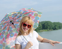 Beautiful girl with umbrella Royalty Free Stock Photos