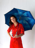 Beautiful girl with umbrella Stock Photos