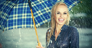 Beautiful girl with umbrella Royalty Free Stock Images