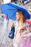 Beautiful girl with umbrella Royalty Free Stock Image