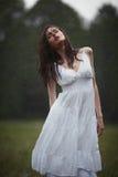 Beautiful girl under rain Stock Photos