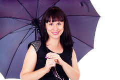 Beautiful girl under the umbrella of Royalty Free Stock Photo