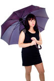 Beautiful girl under the umbrella of Royalty Free Stock Photography