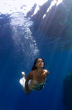 A beautiful girl underwater Royalty Free Stock Images