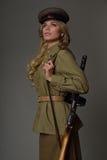 Beautiful girl in uniform Stock Image
