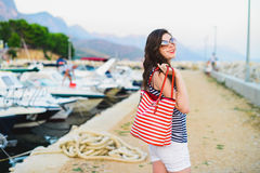 Beautiful girl on vacation Royalty Free Stock Photos
