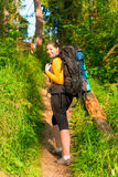 Beautiful girl on vacation in the woods Stock Photos
