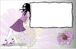 Beautiful girl,vector Royalty Free Stock Images