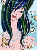 Beautiful girl - vector illustration Royalty Free Stock Image