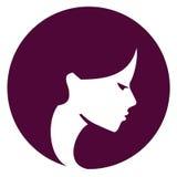 Beautiful girl vector logo design template. Spa or Stock Photography