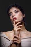 Beautiful girl in veil Royalty Free Stock Photo
