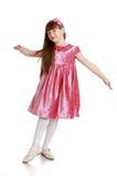 Beautiful girl in a velvet dress Stock Image