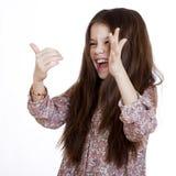 Beautiful girl very fun laughing Stock Photo
