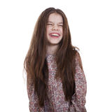 Beautiful girl very fun laughing Stock Photo