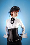 Beautiful girl in Victorian style clothes Royalty Free Stock Image