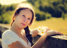 Beautiful girl at the Royalty Free Stock Images