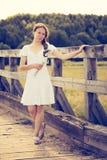 Beautiful girl at the Stock Image