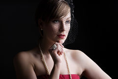 Beautiful Girl in Vintage Style Clothing Royalty Free Stock Images