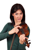 Beautiful girl with violin Royalty Free Stock Images
