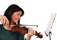 Beautiful girl violinist Royalty Free Stock Image