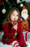 Beautiful girl is waiting Christmas and New year Stock Photography