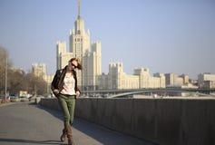 Beautiful girl walking Royalty Free Stock Photos