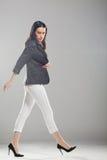Beautiful girl walking Royalty Free Stock Image