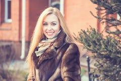 Beautiful girl walking Stock Photo