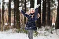 Beautiful girl walking Stock Image