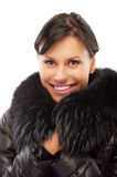 Beautiful girl in warm coat Stock Photos