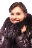 Beautiful girl in warm coat Stock Photos