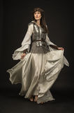 Beautiful Girl warrior in medieval clothes Royalty Free Stock Photography