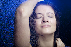 Beautiful girl in the water Stock Photography