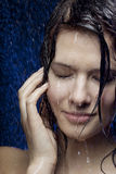 Beautiful girl in the water Royalty Free Stock Photography