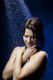 Beautiful girl in the water Royalty Free Stock Photo