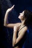 Beautiful girl in the water Stock Photo