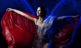 Beautiful girl in the water Royalty Free Stock Image