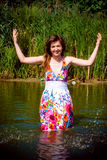 Beautiful girl in water Royalty Free Stock Photos