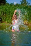 Beautiful girl in water Royalty Free Stock Image