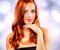 Beautiful girl with wavy hair Royalty Free Stock Photo