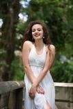 Beautiful girl wear dress like a bride Royalty Free Stock Photo