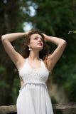 Beautiful girl wear dress like a bride Royalty Free Stock Image