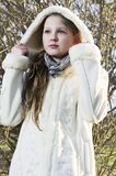 Beautiful girl wear fur Royalty Free Stock Photo