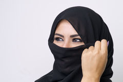 Beautiful girl wearing burqa closeup Royalty Free Stock Image