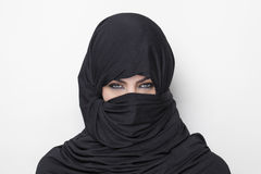Beautiful girl wearing a burqa Stock Photography