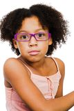 Beautiful girl wearing eyeglasses Royalty Free Stock Images