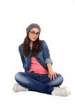 Beautiful girl wearing a grey cap Stock Image