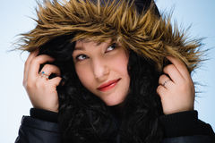 Girl with hood Royalty Free Stock Images
