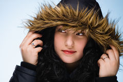 Girl with hood Royalty Free Stock Photography